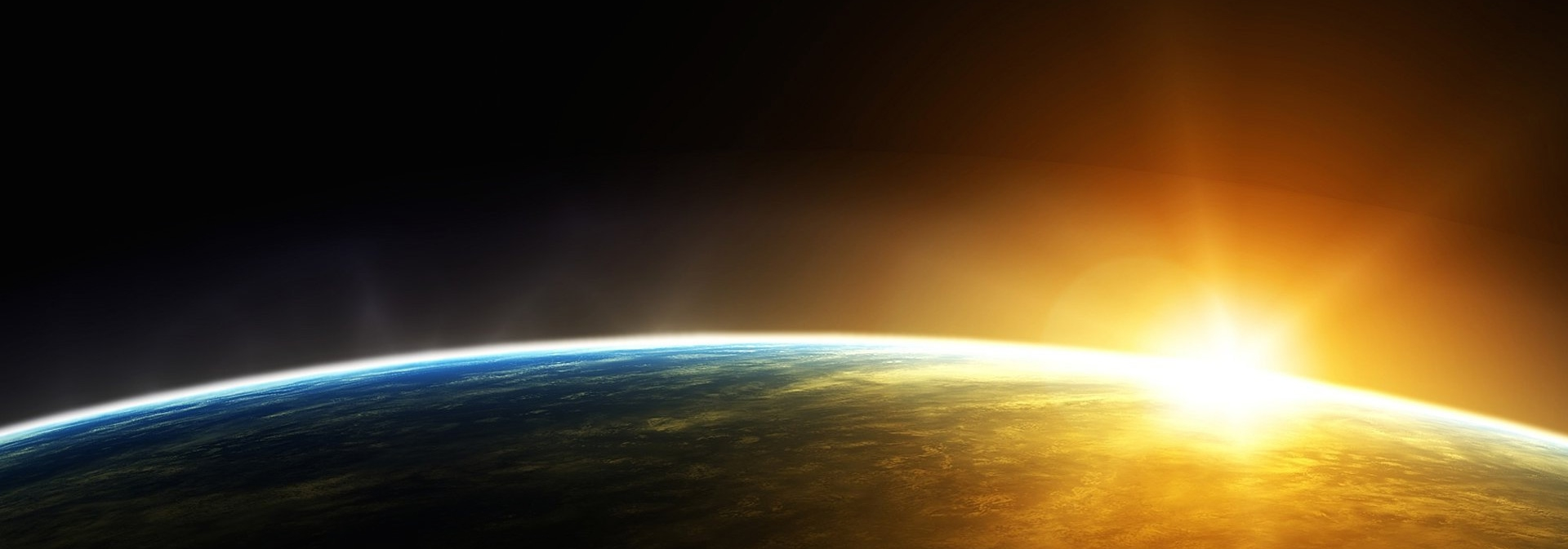 IT Sunrise Over Earth on Right Horizontal