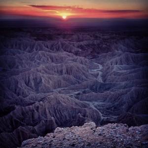 Purple Desert Mts at Sunset